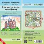NaturNavi Wanderkarte mit Radwegen Limburg a.d. Lahn und Umgebung