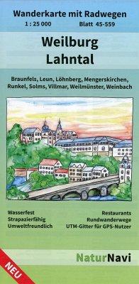 NaturNavi Wanderkarte mit Radwegen Weilburg - L...