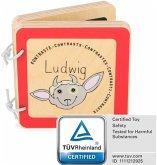 Legler 10862 - Samll foot, Babybuch Ludwig, Kontraste, Holz