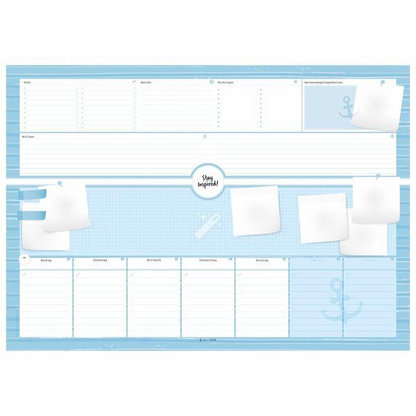 schreibtischunterlage aus papier mit 50 blatt zum abrei en hochwertige von lisa wirth. Black Bedroom Furniture Sets. Home Design Ideas