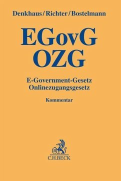 E-Government-Gesetz/Onlinezugangsgesetz - Denkhaus, Wolfgang;Richter, Eike;Bostelmann, Lars