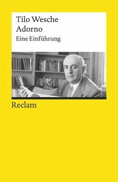 Adorno. Eine Einführung (eBook, ePUB) - Wesche, Tilo