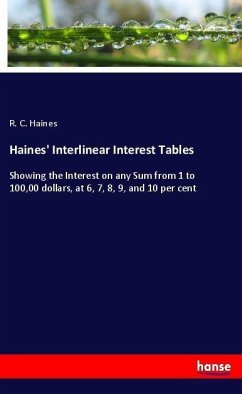 Haines' Interlinear Interest Tables