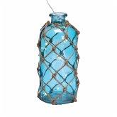 Deko-Flasche mit LED- Lichterkette Net groß