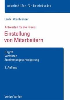Einstellung von Mitarbeitern - Lerch, Sascha; Weinbrenner, Lars