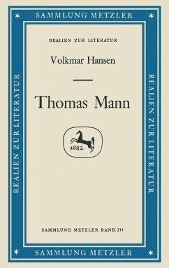 Thomas Mann (eBook, PDF) - Hansen, Volkmar