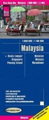 Reise Know-How Landkarte Malaysia (West 1:800.000 / Ost 1:1.100.000)