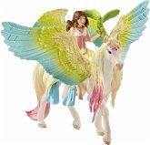 Schleich Surah mit Glitzer-Pegasus, Kunststoff-Figur