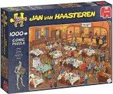 Jumbo 19076 - Jan van Haasteren - Das Dart-Tunier, Comic Puzzle, 1000 Teile