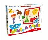 Noris 606041764 - Magneticus Spiel mit mit - Formen & Farben
