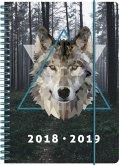 Brunnen Schülerkalender 2018/2019 Wolf, A5 PP