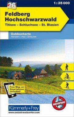 Kümmerly+Frey Outdoorkarte Feldberg - Hochschwarzwald