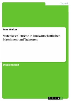 Stufenlose Getriebe in landwirtschaftlichen Maschinen und Traktoren (eBook, ePUB)