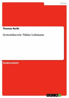Systemtheorie Niklas Luhmann (eBook, ePUB)