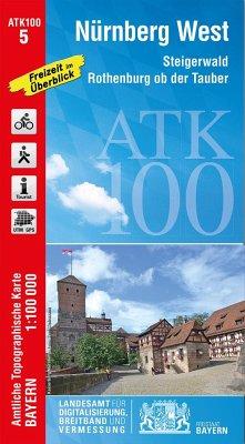 Amtliche Topographische Karte Bayern Nürnberg West