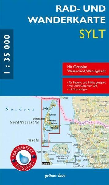 Karte Von Sylt.Rad Und Wanderkarte Sylt