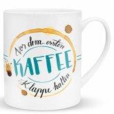 """XL-Tasse """"Vor dem ersten Kaffee"""""""