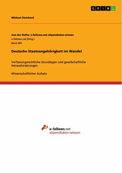 Deutsche Staatsangehörigkeit im Wandel (eBook, ePUB)