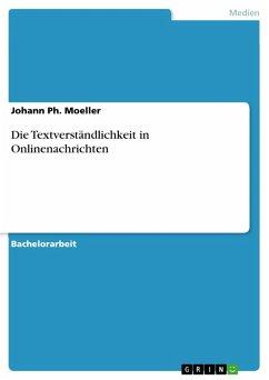 Die Textverständlichkeit in Onlinenachrichten (eBook, PDF)