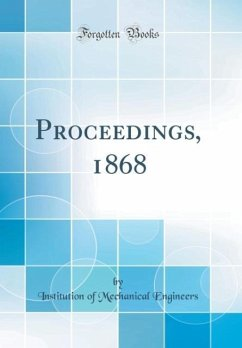 Proceedings, 1868 (Classic Reprint)