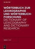 Wörterbuch zur Lexikographie und Wörterbuchforschung: D - H (eBook, PDF)
