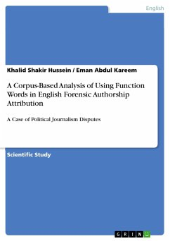 A Corpus-Based Analysis of Using Function Words in English Forensic Authorship Attribution