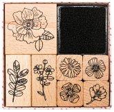 Stempelset, Hygge, Flowers