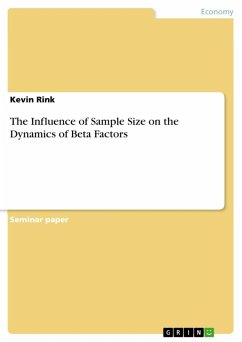The Influence of Sample Size on the Dynamics of Beta Factors (eBook, ePUB)