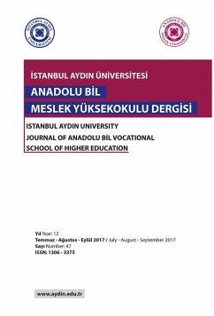 ISTANBUL AYDIN UNIVERSITY JOURNAL OF ANADOLU BIL VOCATIONAL SCHOOL OF HIGHER EDUCATION (eBook, ePUB)