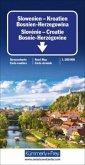 Kümmerly+Frey Karte Slowenien - Kroatien - Bosnien-Herzegowina / Slovénie, Croatie, Bosnie-Herzégovine / Slovenia, Croat