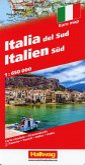 Hallwag Straßenkarte Italien Süd 1:650 000