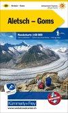 Kümmerly+Frey Karte Aletsch, Goms Wanderkarte