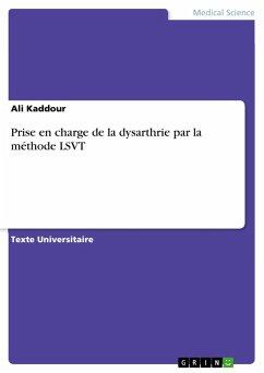 Prise en charge de la dysarthrie par la méthode LSVT - Kaddour, Ali