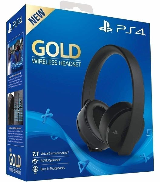 sony playstation 4 wireless stereo headset schwarz gold. Black Bedroom Furniture Sets. Home Design Ideas