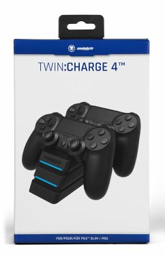 snakebyte TWIN:CHARGE 4, Ladestation für zwei PlayStation 4-Controller, schwarz