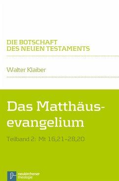 Das Matthäusevangelium (eBook, PDF) - Klaiber, Walter