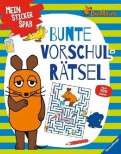 Mein Sticker Spaß Die Maus: Bunte Vorschulrätsel