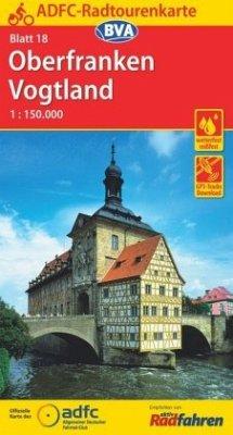 ADFC-Radtourenkarte 18 Oberfranken /Vogtland 1:...