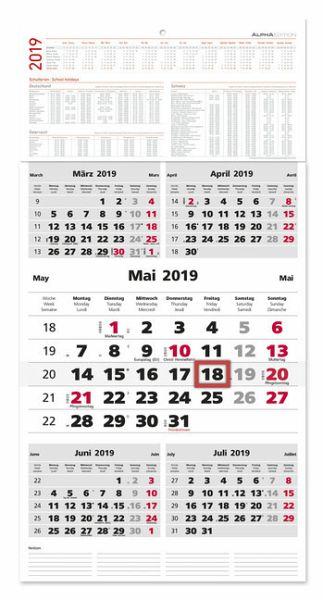 5 monatskalender 2019 maxi kalender portofrei bestellen. Black Bedroom Furniture Sets. Home Design Ideas