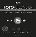 Foto-Bastelkalender 2019 schwarz datiert