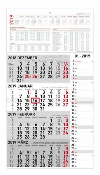 4 monatskalender 2019 kombi kalender portofrei bestellen. Black Bedroom Furniture Sets. Home Design Ideas