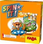 HABA 303743 - Spin it! Legespiel, Mau Mau-Spiel, Domino-Spiel, Kinderspiel