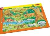 HABA 303643 - Rahmenpuzzle, Waldtiere, Kinderpuzzle, 10 Teile