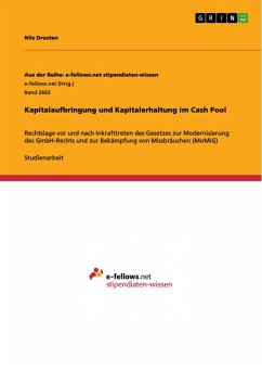 Kapitalaufbringung und Kapitalerhaltung im Cash Pool (eBook, PDF)