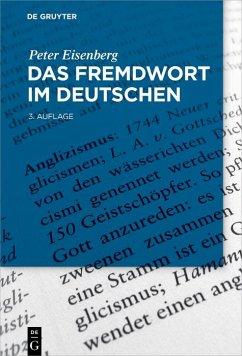 Das Fremdwort im Deutschen (eBook, PDF) - Eisenberg, Peter