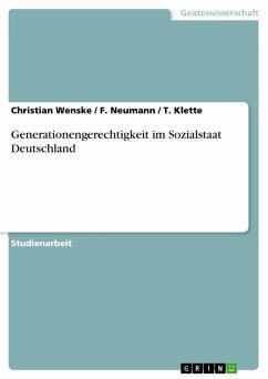 Generationengerechtigkeit im Sozialstaat Deutschland (eBook, ePUB)