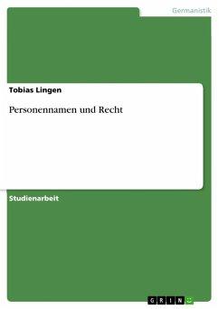 Personennamen und Recht (eBook, ePUB)