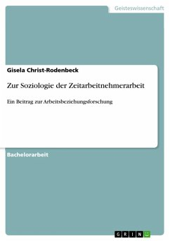 Zur Soziologie der Zeitarbeitnehmerarbeit (eBook, ePUB)