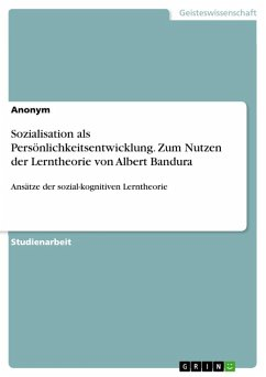 Sozialisation als Persönlichkeitsentwicklung (eBook, ePUB)
