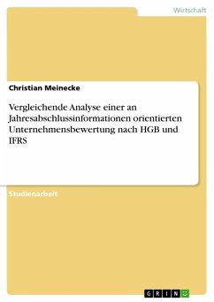 Vergleichende Analyse einer an Jahresabschlussinformationen orientierten Unternehmensbewertung nach HGB und IFRS (eBook, ePUB)